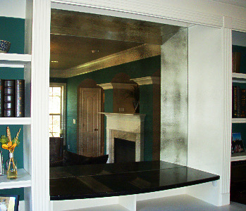 Antiqued Mirror Glass Atlanta - Residential - Wall Panel Recessed