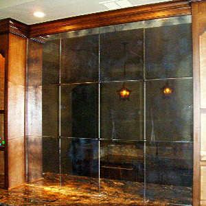 Antiqued Mirror Gl Atlanta Residential Wall Panel Recessed